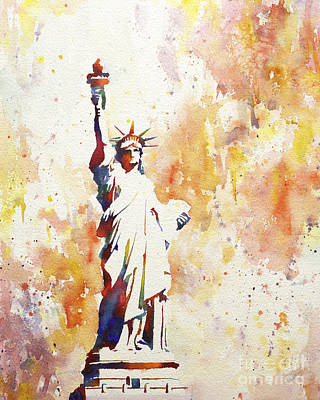 Justice Painting - Lady Liberty 2 by Ryan Fox