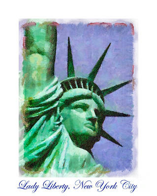 Painting - Lady Liberty by Betsy Foster Breen