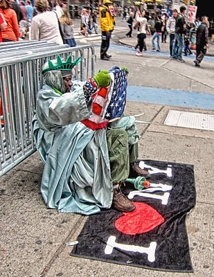 Lady Liberty Calls It A Day Art Print