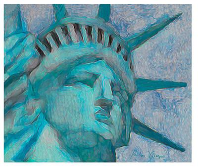 Lady Liberty Original by Carlos Villegas
