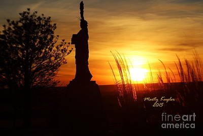 Statue Of Liberty Replica Photograph - Lady Liberty Keeping Watch Over The Solomon Valley At Sunset by Marty Kugler