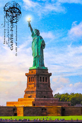 Photograph - Lady Liberty Lifting Her Light by Mark E Tisdale