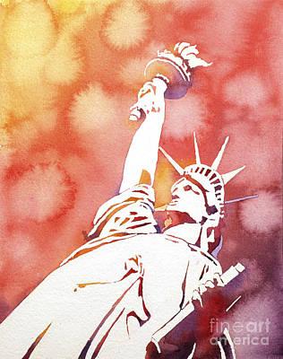 Lady Liberty- Red States Original by Ryan Fox