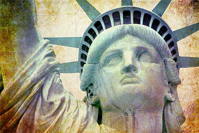 Statue Of Liberty Mixed Media - Lady Liberty  by Yulia Eads