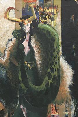 Painting - Lady Loki by David Leblanc
