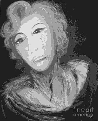 Digital Art - Lady M. Black. Exclusive Art Collection by Oksana Semenchenko