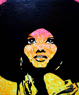 Diana Ross Painting - Lady Mahogany by Nic The Artist