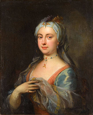 Painting - Lady Mary Mortley Montagu by Joseph Highmore