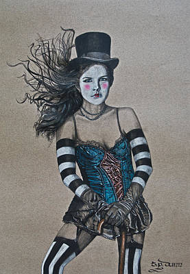 Drawing - Lady Of A Different Stripe by TP Dunn