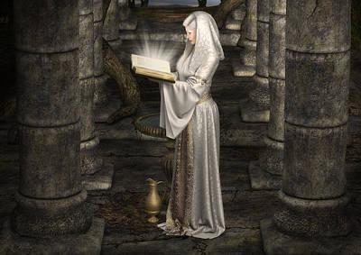 Lady Of Light Print by Rachel Dudley