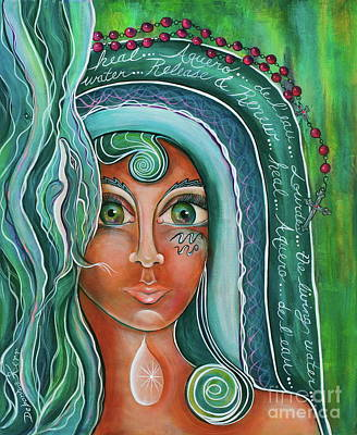 Painting - Lady Of Lourdes Madonna by Deborha Kerr
