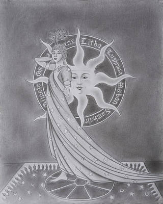 Mabon Drawing - Lady Of The Eight Sabbats by Dennis Furioso