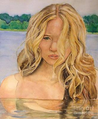 Hunger Games Painting - Lady Of The Lake Colour by Natalia Chaplin