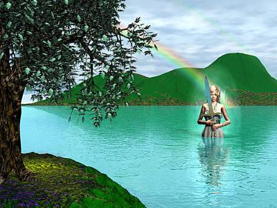 Digital Art - Lady Of The Lake by Michele Wilson