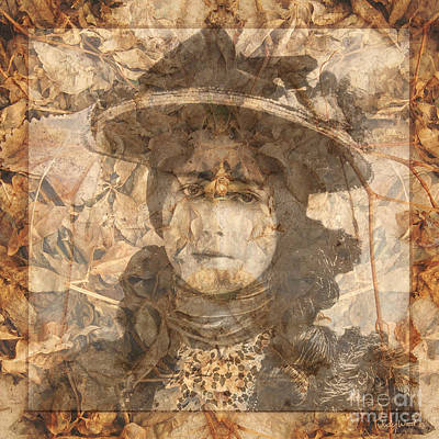 Edwardian Woman Digital Art - Lady Of The Leaves by Judy Wood