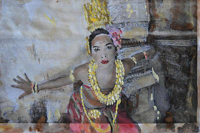 Cambodian Painting - Lady Of The Lotus by Vikram Singh