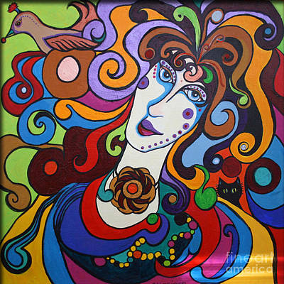 Art Print featuring the painting Lady Of The Opera  Varga by Alison Caltrider