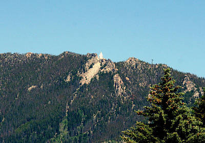 Lady Of The Rockies Butte Montana Art Print by Larry Stolle