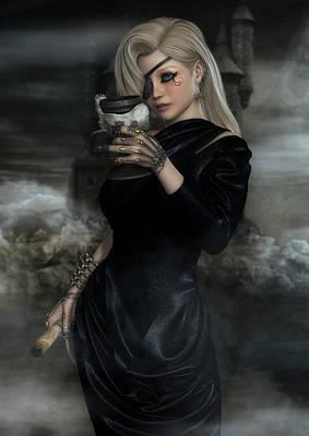 Digital Art - Lady Of The Sea Wind by Rachel Dudley