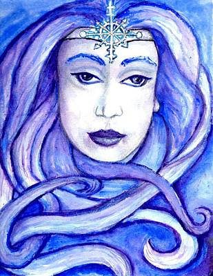 Painting - Lady Of The Winter Solstice by Janice T Keller-Kimball