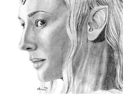 Cate Blanchett Drawing - Lady Of The Wood by Kayleigh Semeniuk