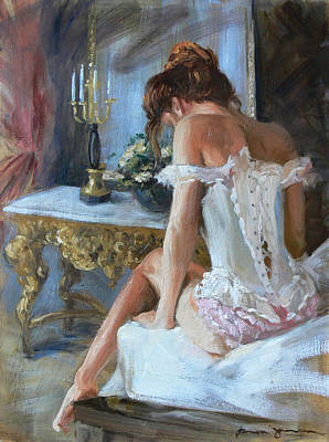 Painting - Lady On Bed by Tanya Jansen