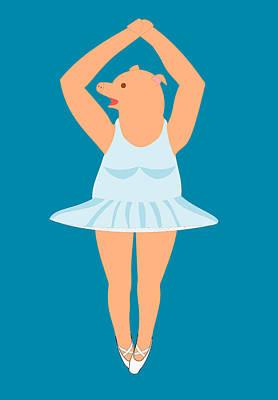 Lady Pig In A Tutu Art Print