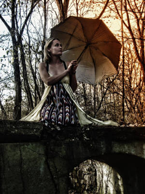 Photograph - Lady Rain by Kristie  Bonnewell