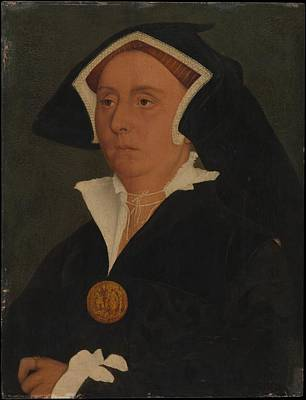 Gold Metal Painting - Lady Rich Elizabeth Jenks, Died 1558 by Workshop of Hans Holbein the Younger
