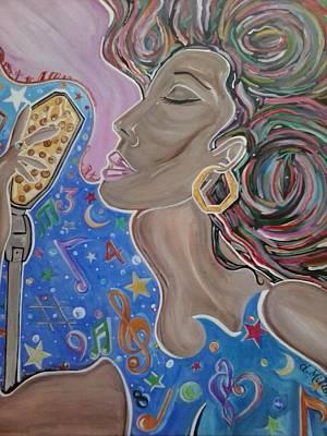 Lady Sings  Original by Damon Milton