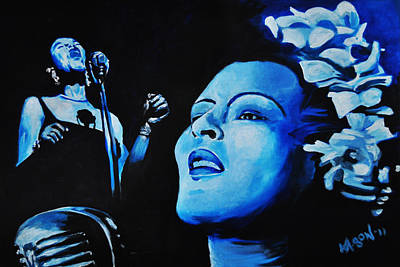 Painting - Lady Sings The Blues by Ka-Son Reeves