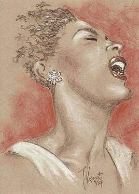 Lady Sings The Blues Art Print by P J Lewis