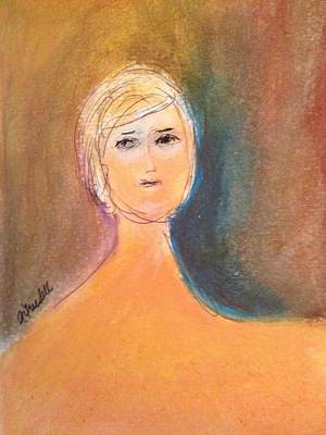 Painting - Lady Sketch by Andrea Friedell
