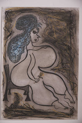 Lady Voluptuous  Print by Kristina Chernyak