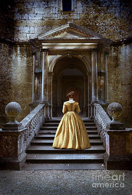 Photograph - Lady Walking Up Stone Steps by Jill Battaglia