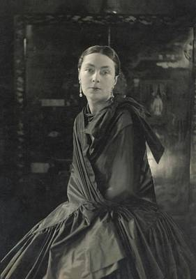 Earrings Photograph - Lady Wimborne In A Silk Wrap Dress by Edward Steichen