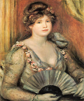 Digital Art - Lady With A Fan by Pierre Auguste Renoir