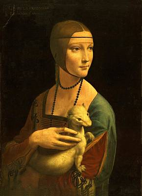 Lady With An Ermine Leonardo Da Vinci 1489 Art Print