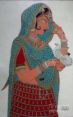 Lady With Dove Original