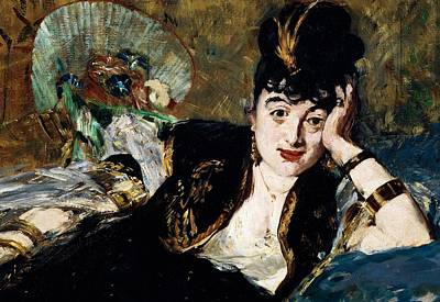 Painting - Lady With Fan Portrait Of Marie Anne De Callias Known As Nina De Callias by Edouard Manet