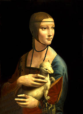 Mixed Media - Lady With The Ermine Reproduction by Da Vinci