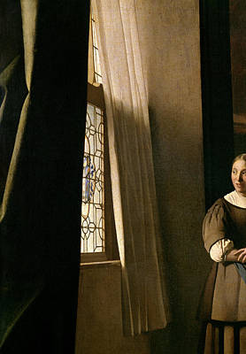 Dictate Painting - Detail From A Lady Writing A Letter With Her Maid by Jan Vermeer