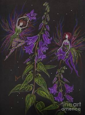 Faeries Drawing - Ladybells by Dawn Fairies