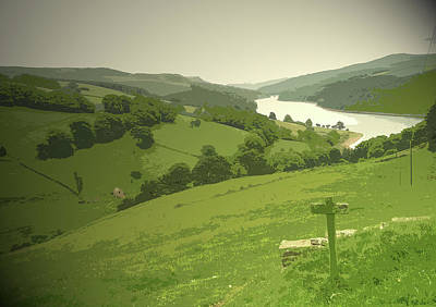 Ladybower Viewed From Lanehead, Looking Over The Reservoir Art Print