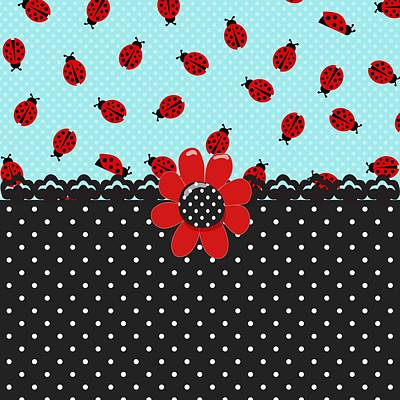 Ladybug Digital Art - Ladybug Bliss by Debra  Miller