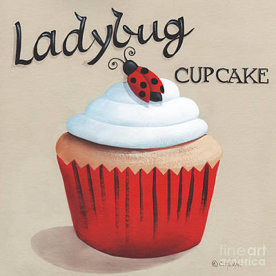 Ladybug Cupcake Original by Catherine Holman