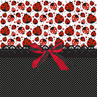 Ladybug Digital Art - Ladybug Energy  by Debra  Miller