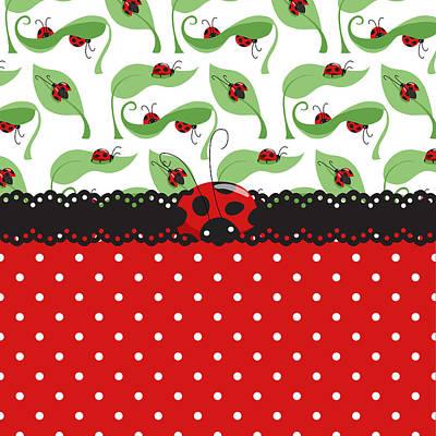 Ladybug Digital Art - Ladybug Impression by Debra  Miller