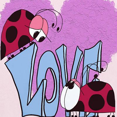 Digital Art - Ladybug Love by Michelle Brenmark