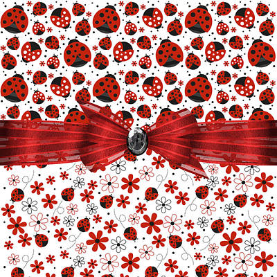 Ladybug Digital Art - Ladybug Magic by Debra  Miller